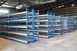 longspan shelving in shed