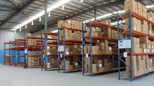 Inside of a warehouse