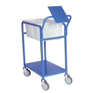 Single Tub Order Picking Trolley with clipboard