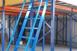 stairs for raised storage platform