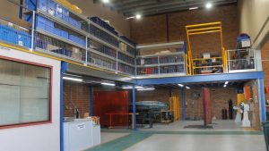 Structural Mezzanine Floor with Roll Over Pallet Gate