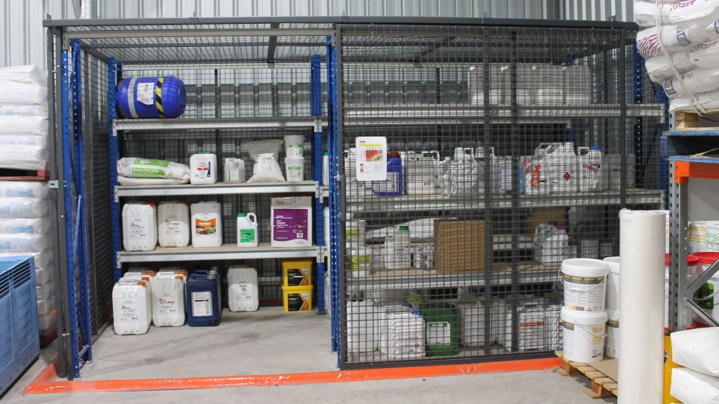 How Do I Safely Store Chemicals in a Rural Store?