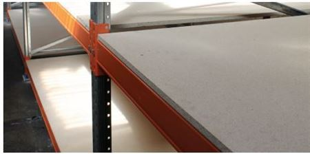 Pallet Racking Beams with MDF Timber Shelf Level