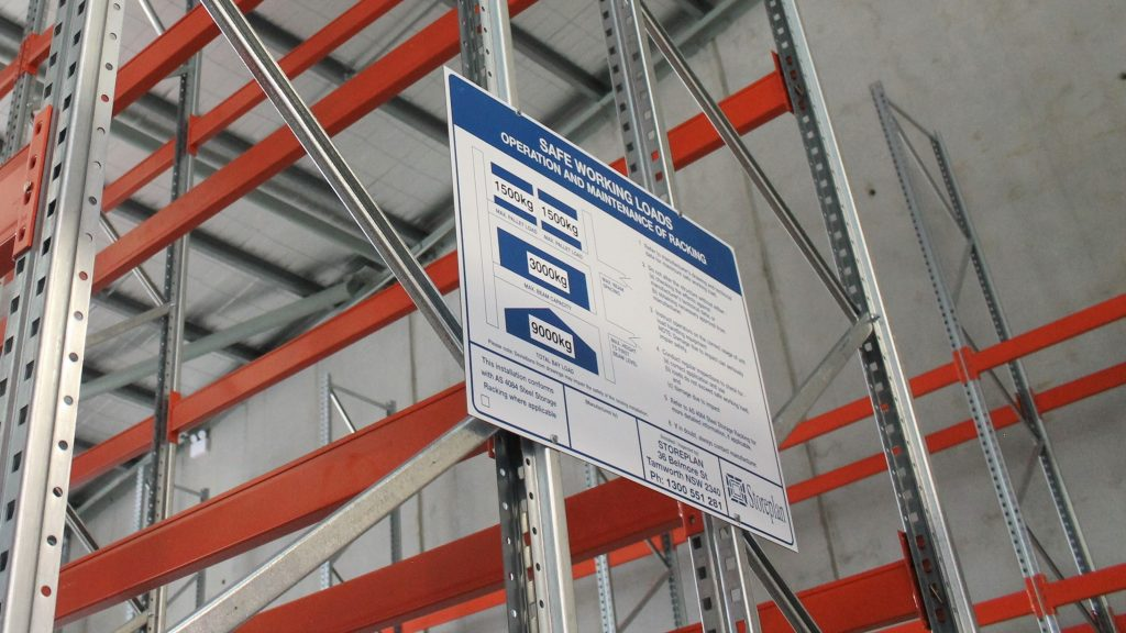 Can I buy Safe Working Load (SWL) rating signs for Pallet Racking?