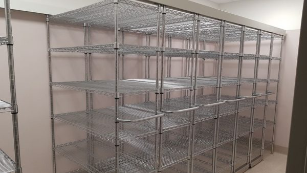 Chrome Wire Compactus Unit for Consumables Storage at Hospital