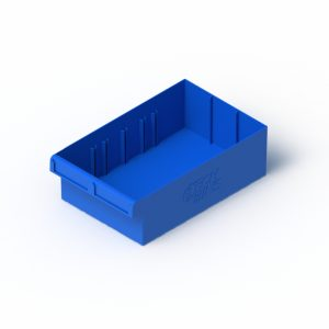 blue spare part tray
