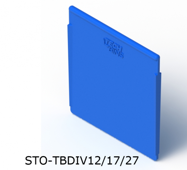 Spare Parts Tray Divider Blue