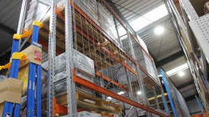 Industrial Racking Systems with mesh backs
