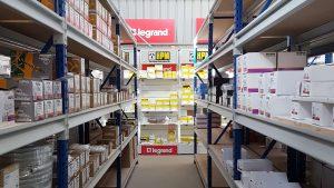 Storeplan Longspan shelving system in electrical wholesaler