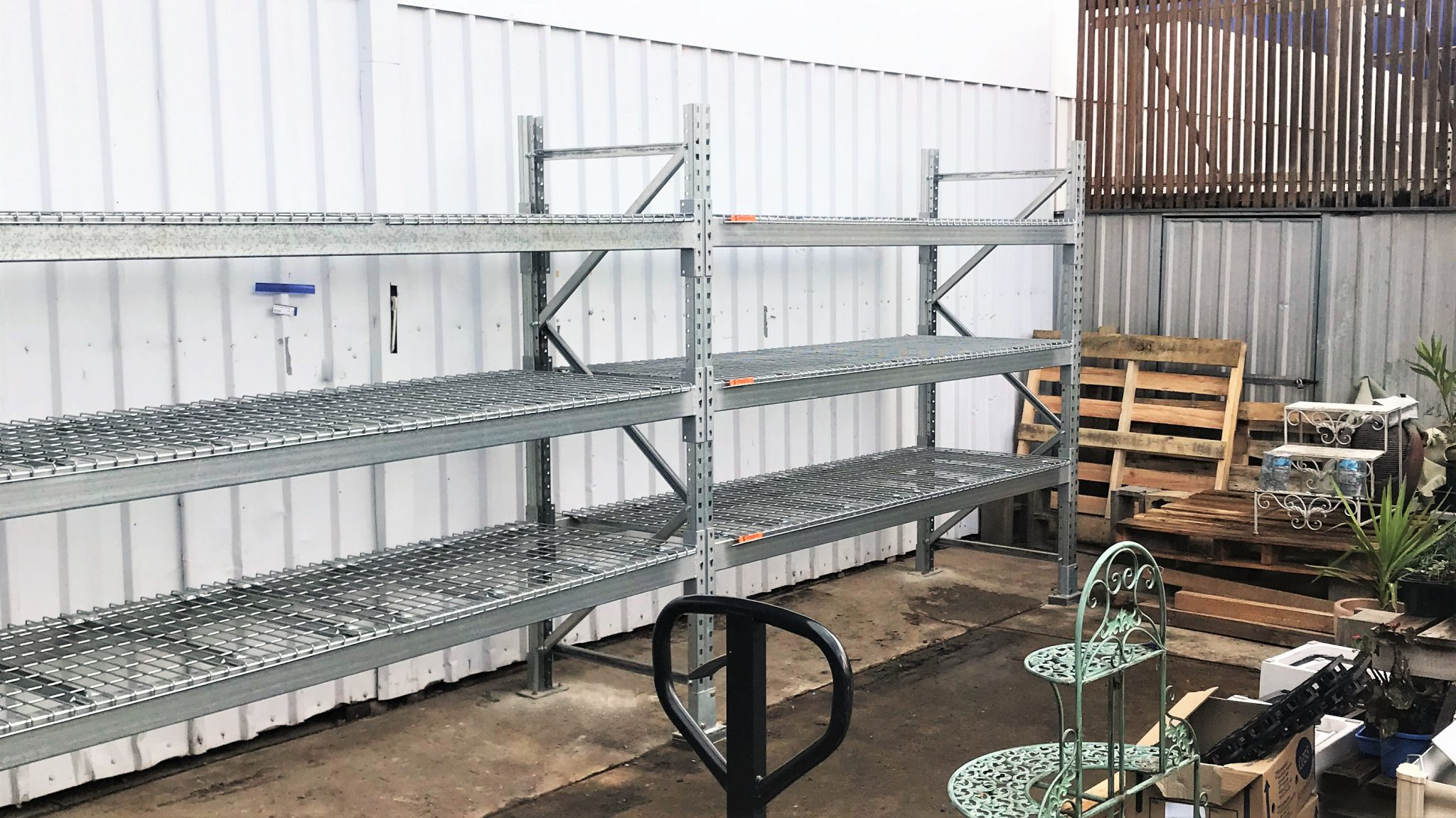 Galvanised Racking for a Hardware Store with 3 levels