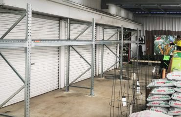 Outdoor Galvanised Racking System in Hardware Store