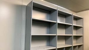 Steel Shelving in Abattoir Laundry