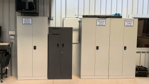 Swing door steel cabinets for PPE & Tool Storage