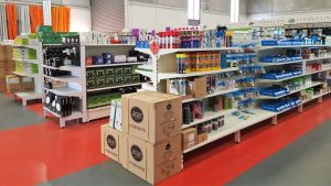 Electrical-wholesaler heavy duty display-shelving-fitout