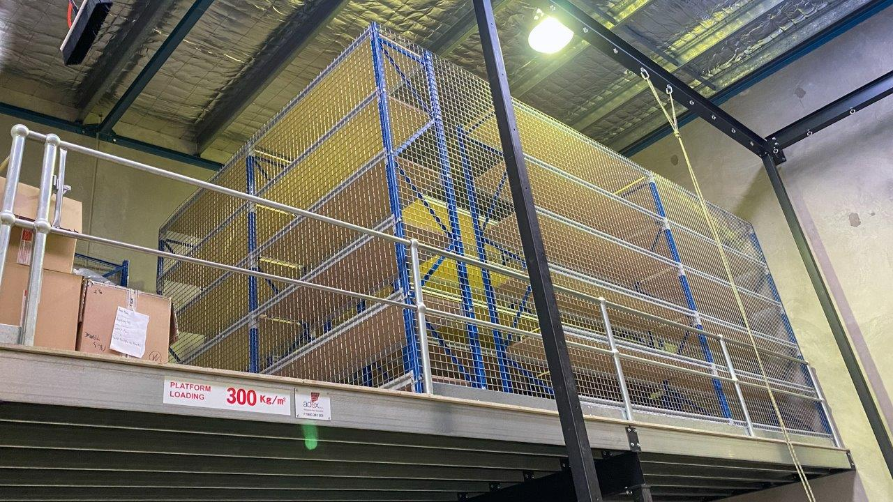 Strutural Mezzanine Floor with Longspan Shelving