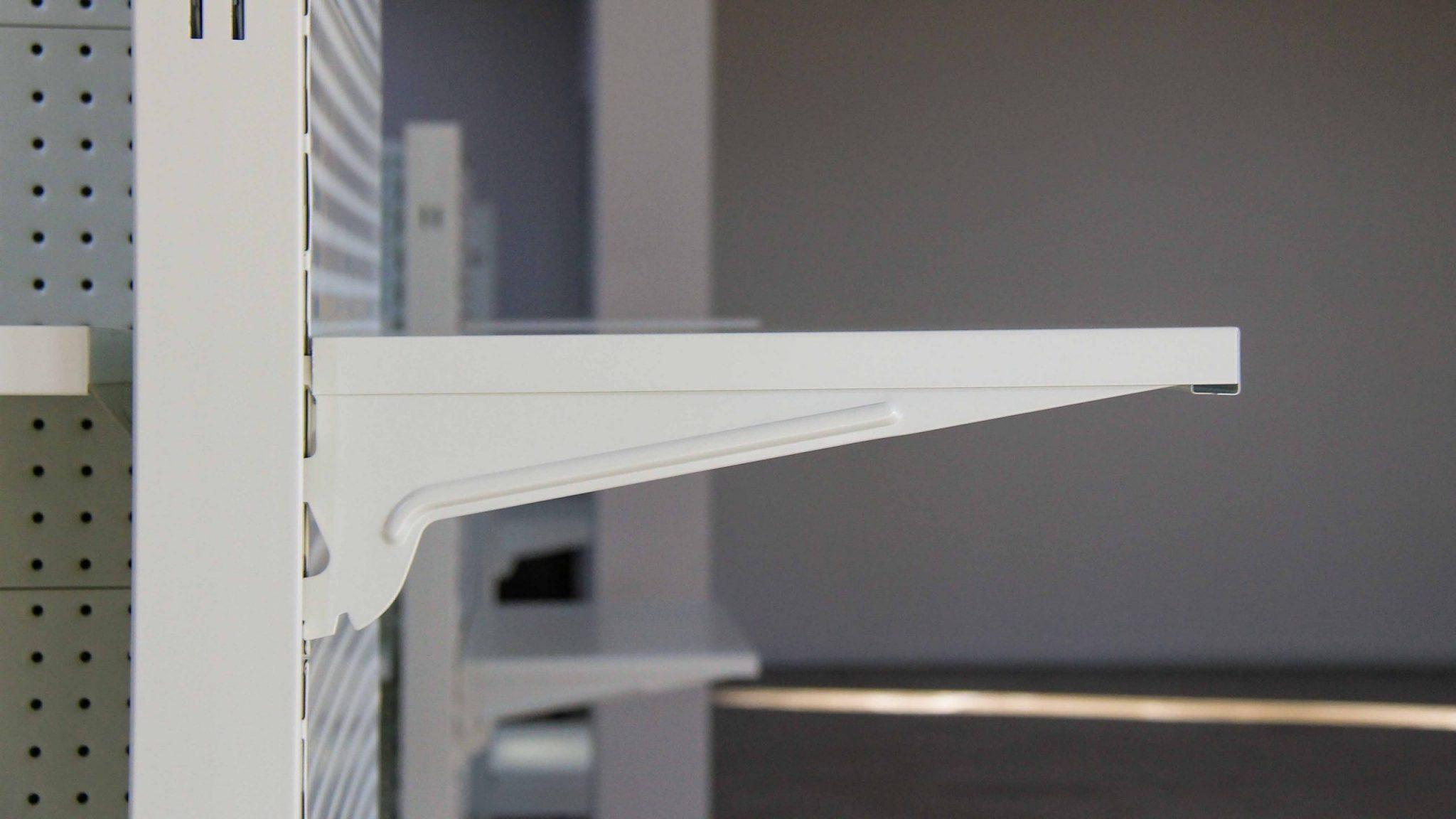 White Metal Godola Bracket and-Shelf