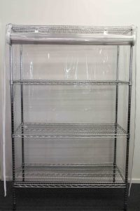 Tie Back Clear Cover for Medical Wire Shelving