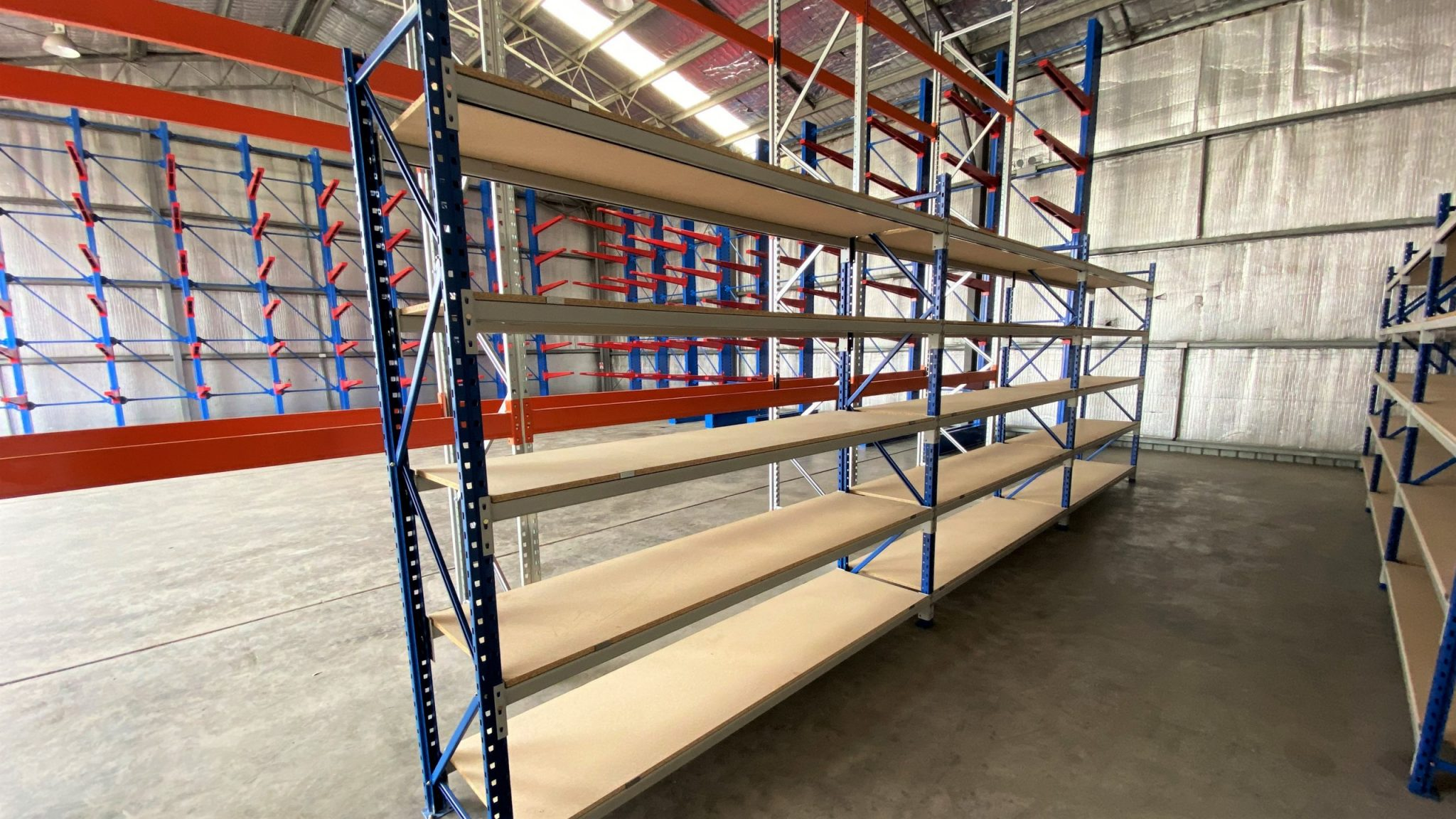 Longspan Shelves for Mining Contractor New South Wales