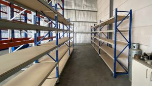 Longspan Shelves for Mining and Machinery Parts - Hunter NSW