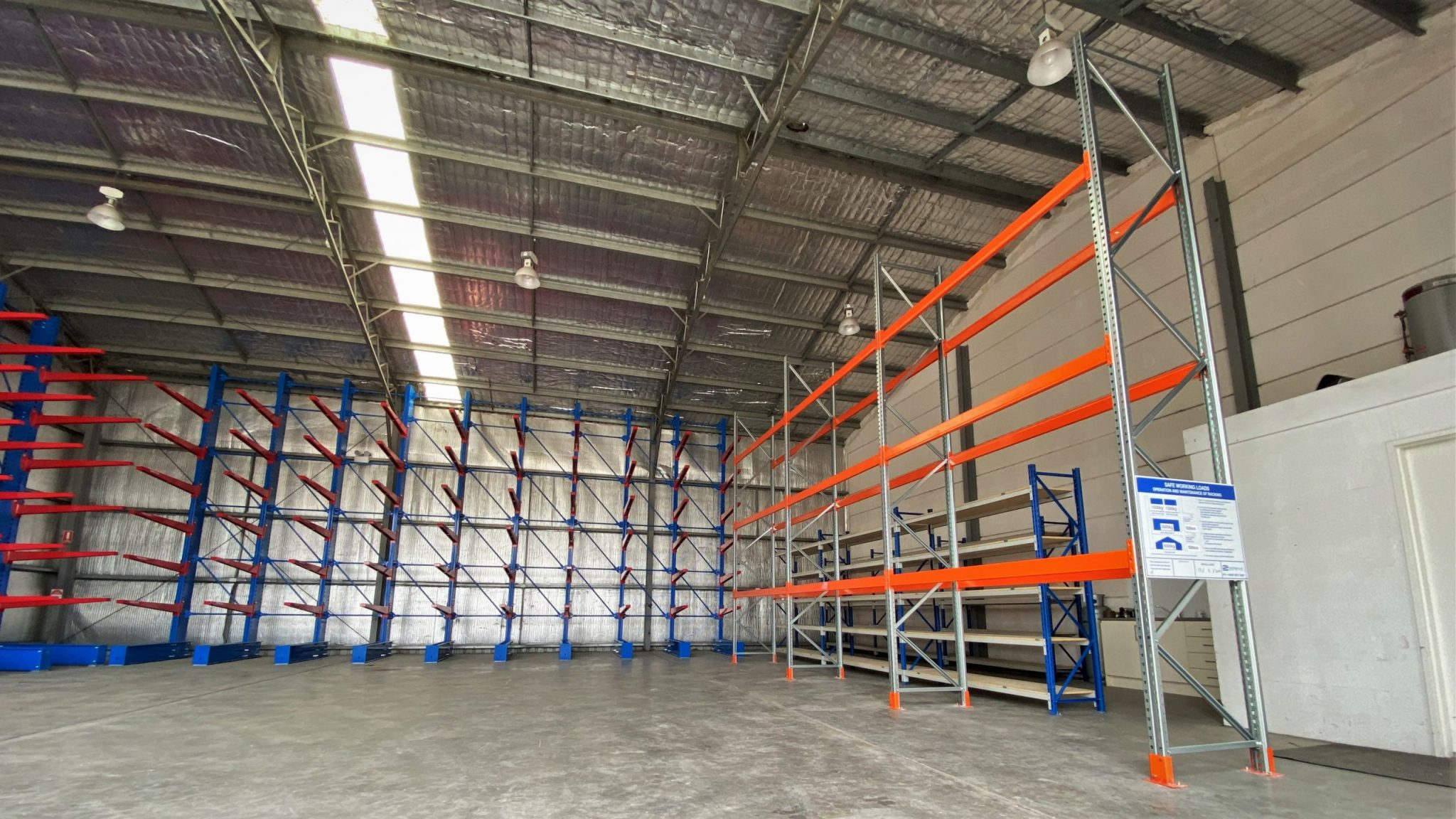 Selective Pallet Racking and Indoor Cantilever Racking at Hunter New South Wales